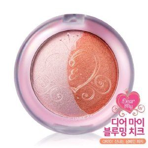 Etude House Dear My Blooming Cheek - #OR201 Champagne Peach by Etude House. $11.89. 1. Face Slimming Expression : Apply B tone to cheek at an angle. Apply A to upper cheek by partially overlapping B coverage.. A: Highlighter / B: Blush. Dual Highlighter and blush tones supply smooth shimmer and vivid color to reflect a beautiful spring bloom. 3. Customized Expression : Blend A & B tones to liking and apply to cheek.. 2. Cute Expression : Apply B toon to apple zone and o...