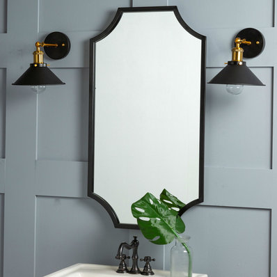 Wilmington Mirror In 2020 Corner Mirror Frames On Wall Chic Bathrooms