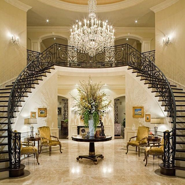 """Grand Foyer Staircase: """"#opulent_lifestyles #opulent #opulence #affluent #wealthy"""