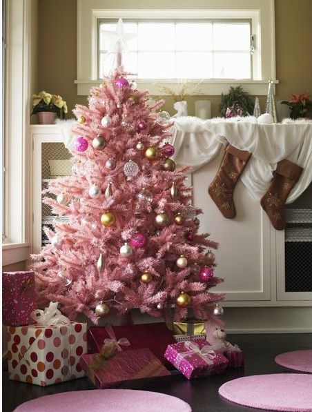 pink20 Holidays Christmas in Pink Pinterest Pink christmas