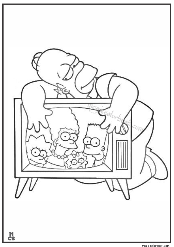Pin by Magic Color Book on Simpsons Coloring pages free online ...