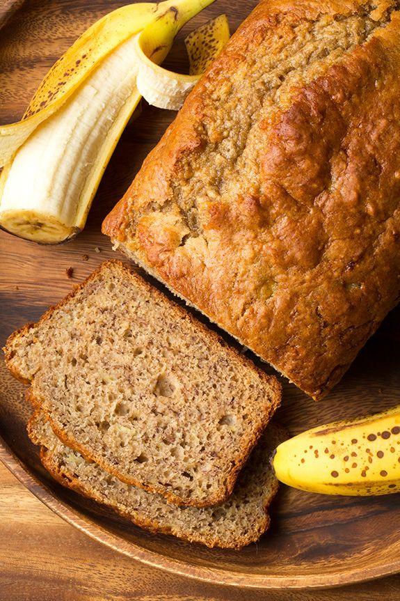 Skinny Banana Bread | www.cookingclassy.com | #banana #bread
