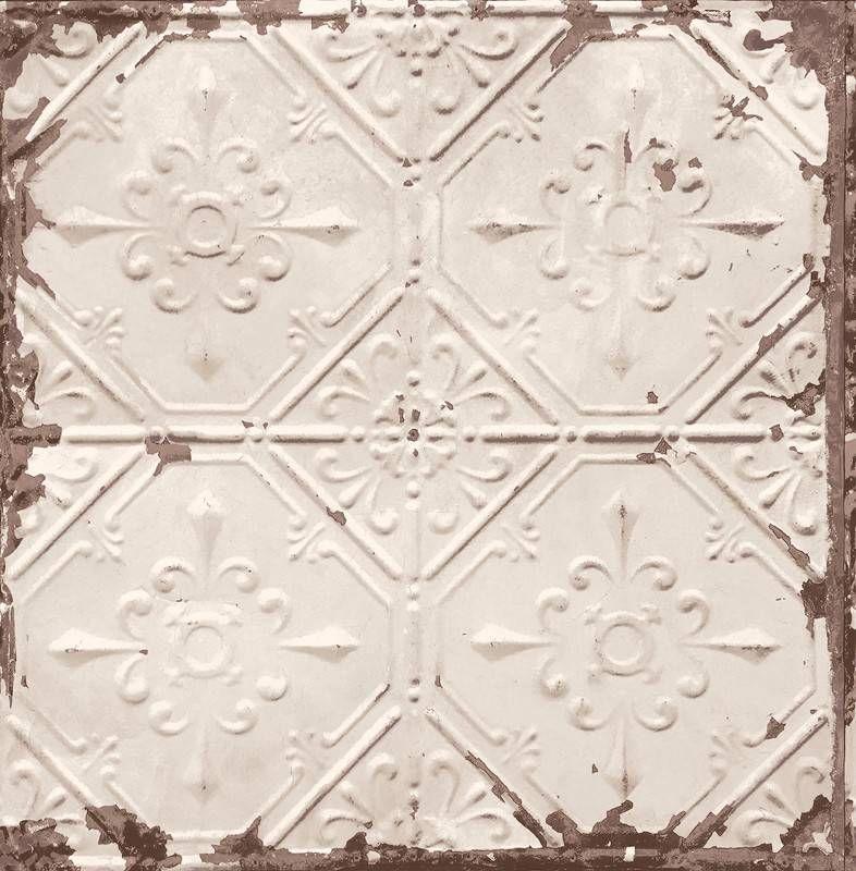 Dutch Wallcoverings Behang.Dutch Wallcoverings Reclaimed Vintage Tegel Behang Off White Fd22332