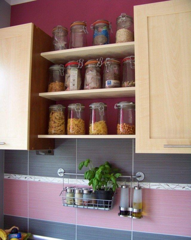 Genial Farbe Küche Ideen Himbeer Farbe Fliesenspiegel Grau Rosa