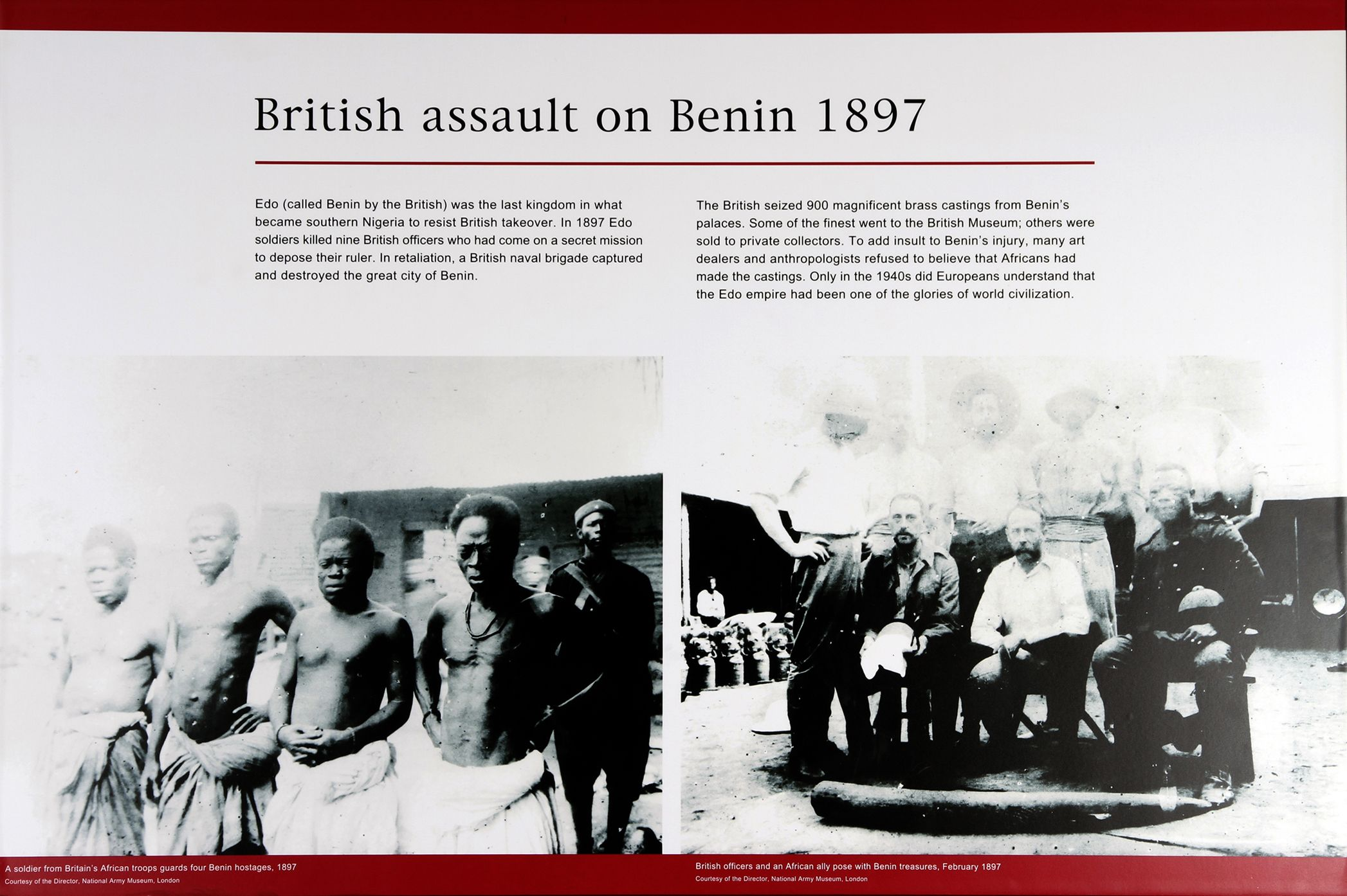 Photographic Treatments Of The Benin Punitive Expedition In 1897 From The British Empire And Commonwealth Museum S P British Museum Research Images Benin