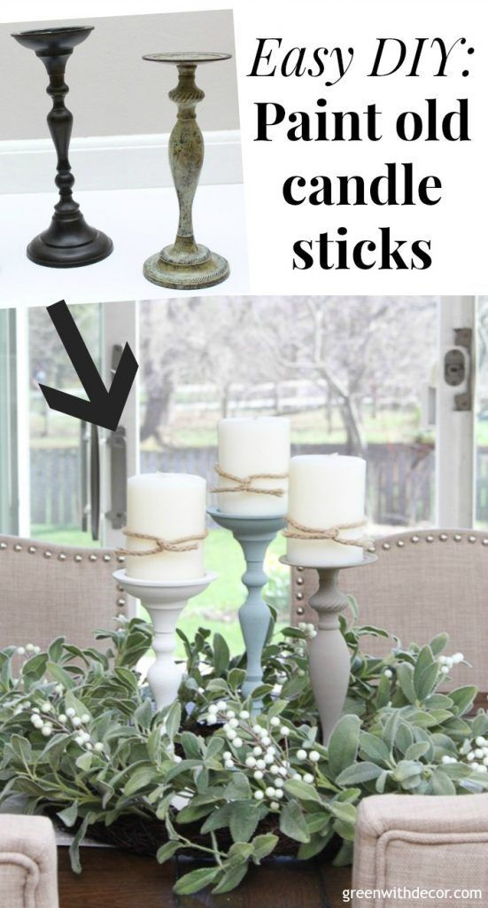 How to paint candlesticks #thriftstoreupcycle