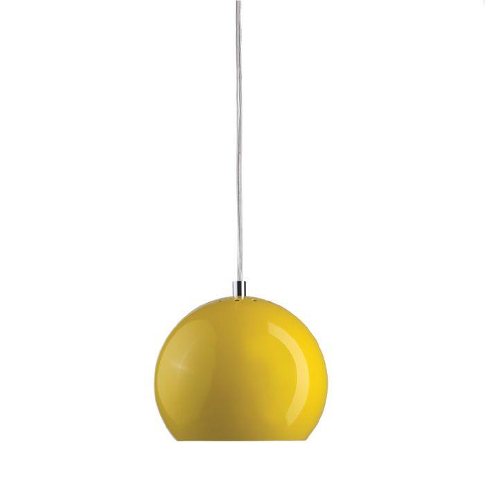 frandsen glossy yellow ball pendant light lighting