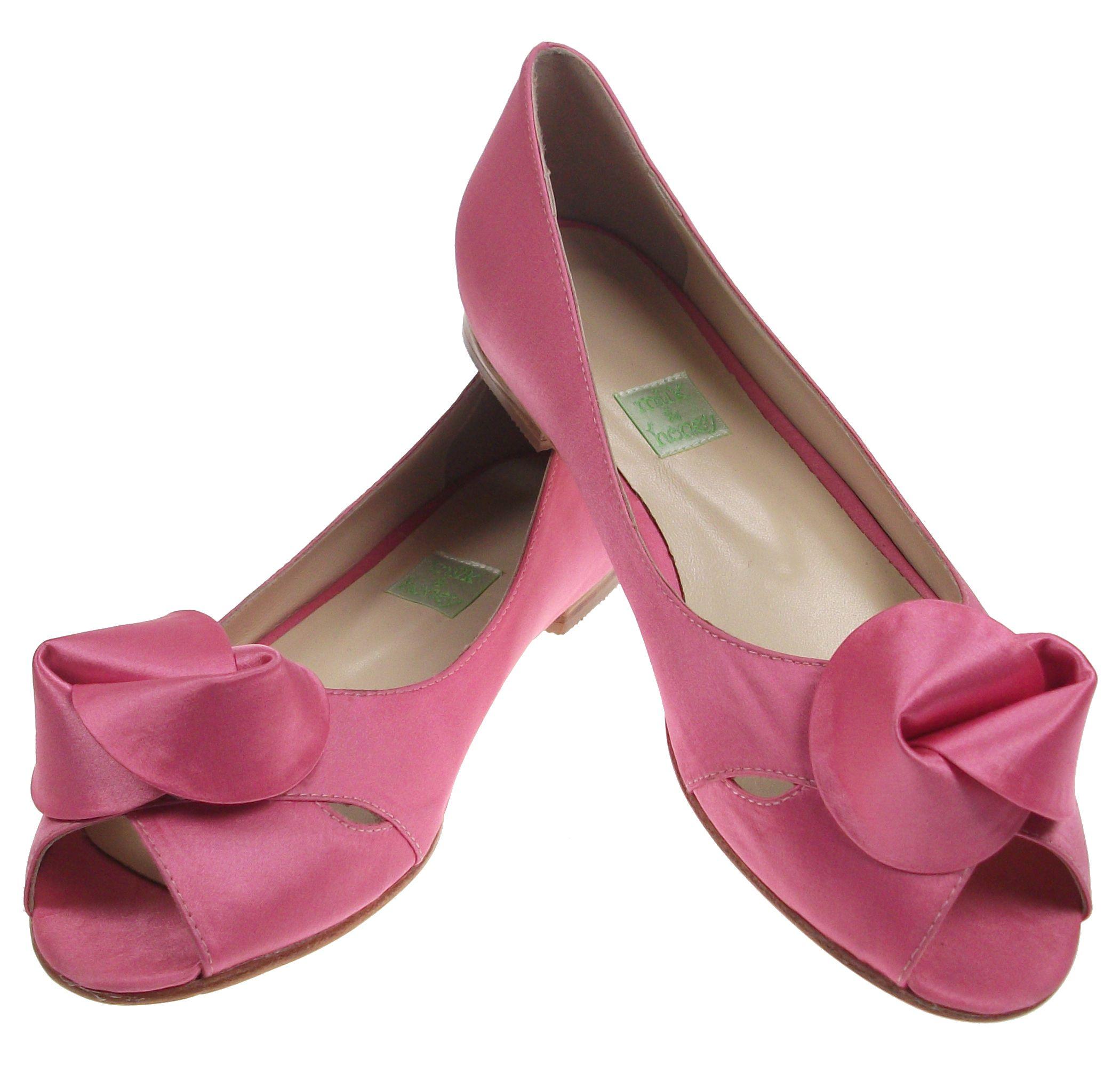 Pink Knot Wedding Flats | Zapatos. | Pinterest | Zapatos boda ...