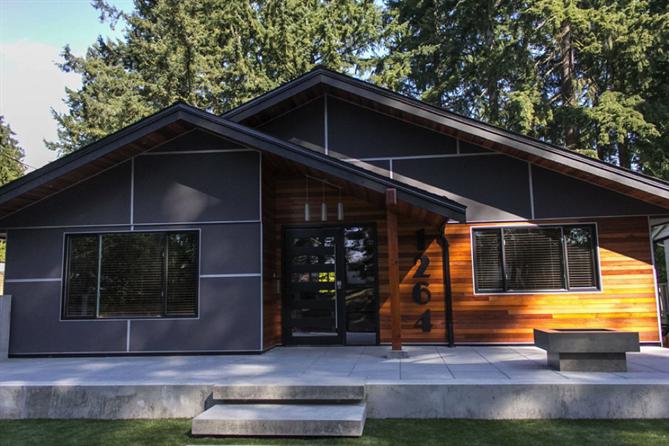 10 Decorative Cement Board Ideas Modern Siding Modern House Exterior House Exterior