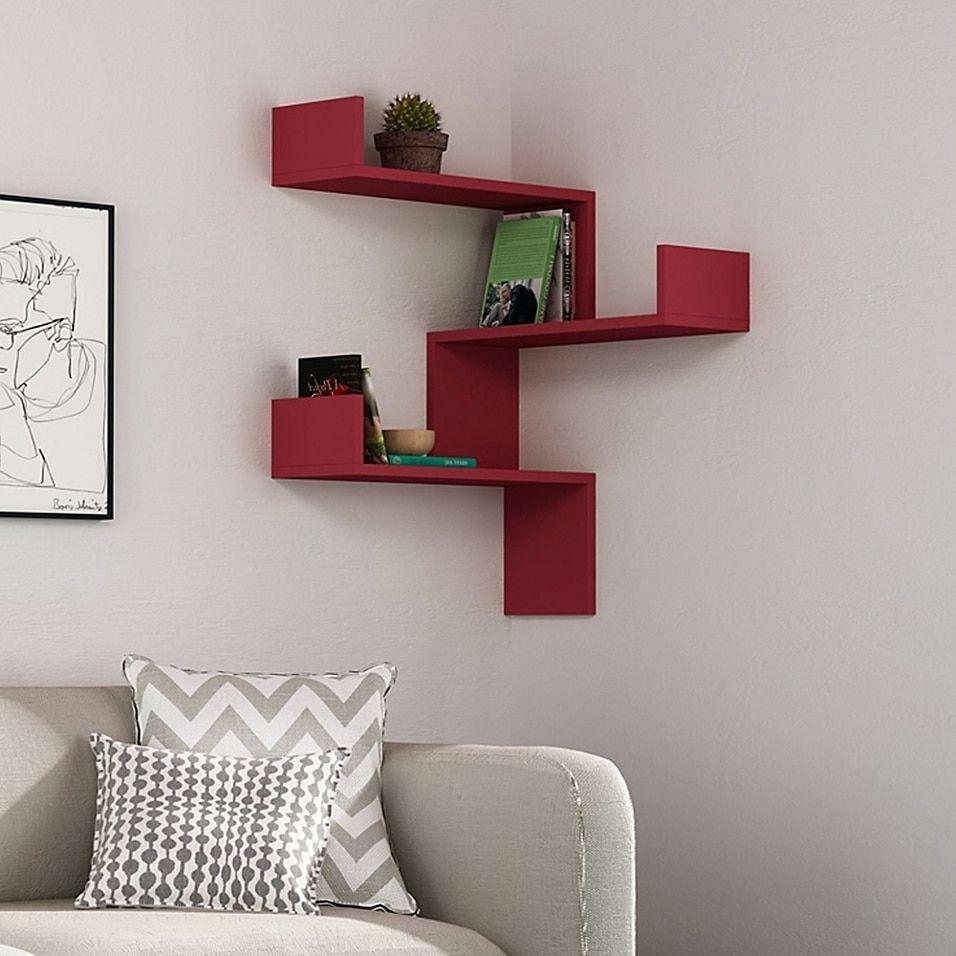 Ada Home Decor Walker 24 Inch Modern Wall Shelf Bed