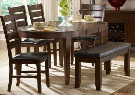 Amazon Com Homelegance Ameillia 58x40 Oval Dining Table W