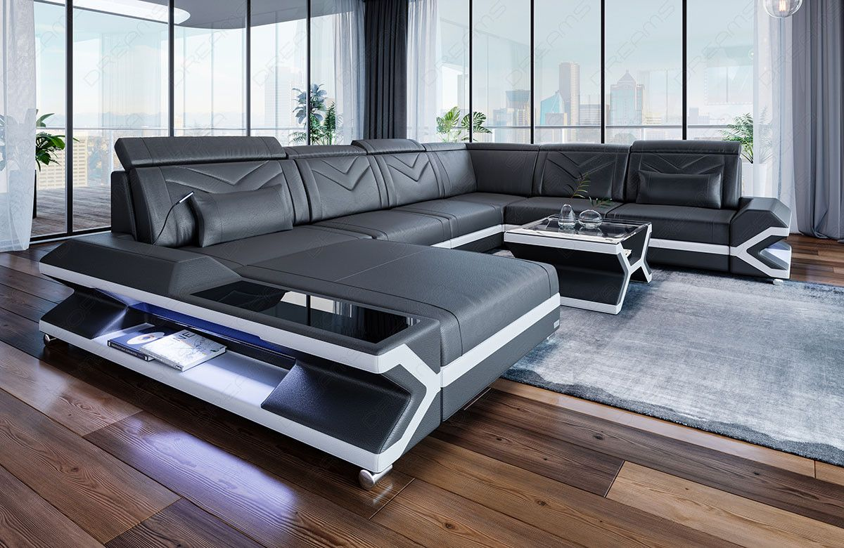 Details Zu Wohnlandschaft Claudia Xxl Ecksofa Couch Sofa Mit
