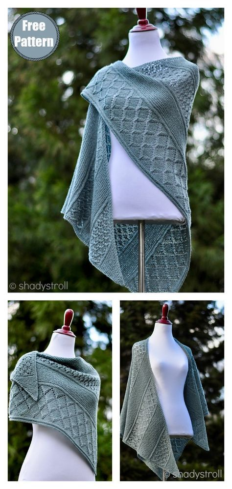 Photo of Lattice Sampler Shawl Free Knitting Pattern