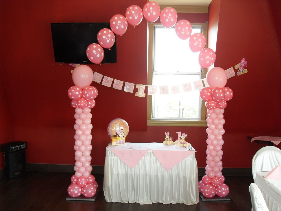 Pink Black White Party Decoration Ideas Polka Dot Party Party Decorations By Teresa 1st Birthday Balloons Balloon Decorations Party Birthday Balloons