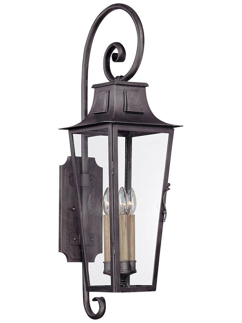Parisian Square Large Exterior Wall Sconce In Aged Pewter Sconces Troy Lighting Outdoor Wall Lighting