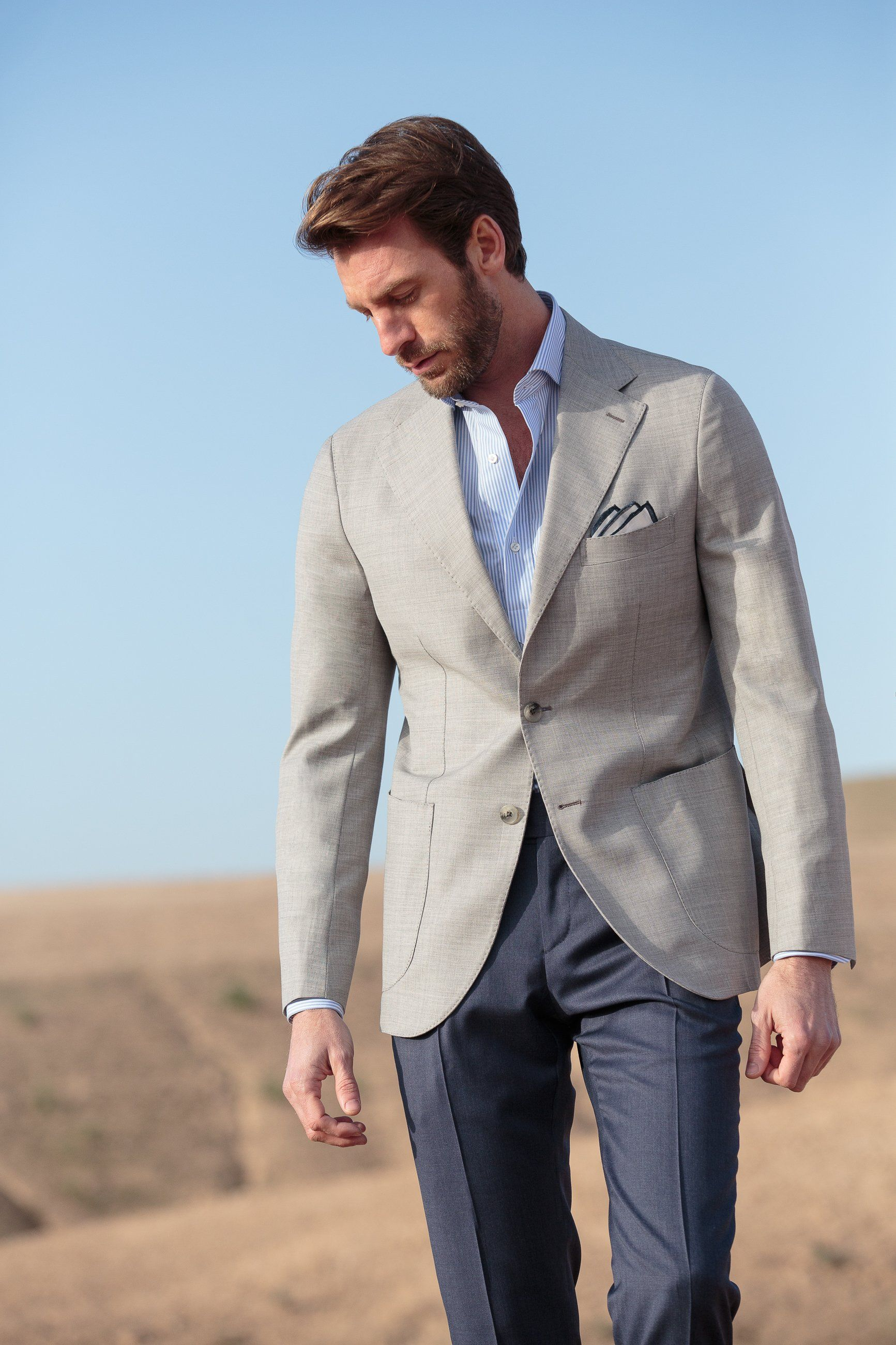 Light Grey Hopsack Jacket Made In Italy With Images