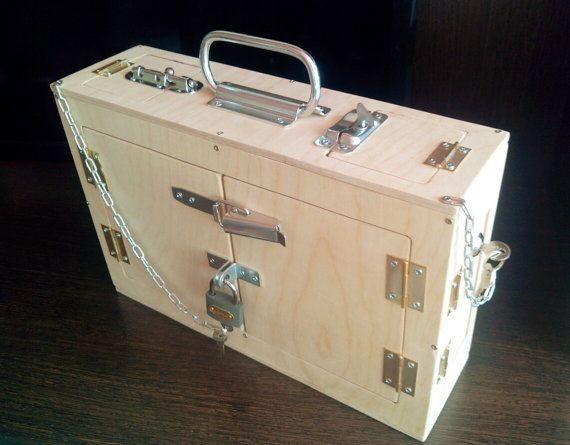 Busy Board Box Suitcase Trunk Activity Board Sensory