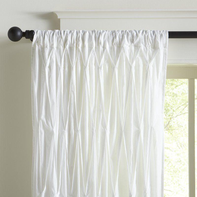 Estella Cotton Voile Single Curtain Panel Voile Curtains Panel Curtains Drapes Curtains