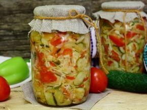 салат из огурцов на зиму рецепты пошагово с фото