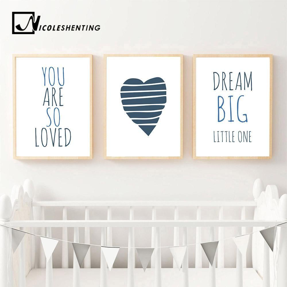 WALL ART PRINT SET BIRTH Nursery Decor Custom Personalised 8x10inch Modern Quote