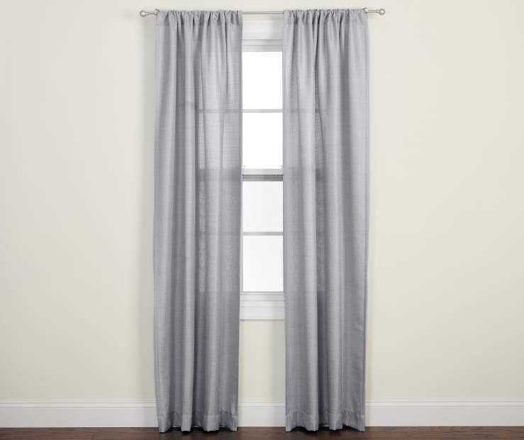 Living Colors Gray Northland Panel Pair 84 Big Lots Long Curtains Paneling Gray Color