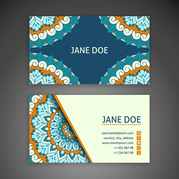 Boho Business Card Creativework247 Cute Cards Template Word