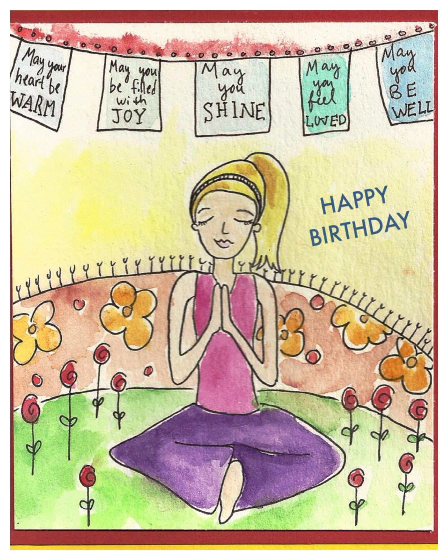 Yogi Birthday Happy Birthday Happy Birthday Yoga Happy Birthday