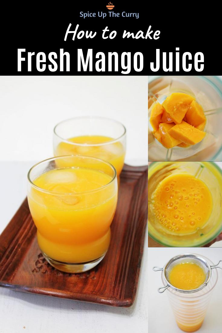 Mango Juice Recipe How To Make Mango Juice Recipe Recipe Mango Juice Recipe Mango Juice Juicing Recipes