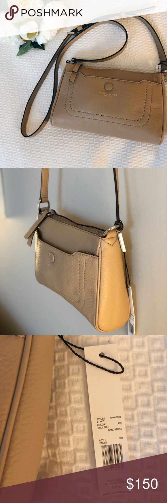 66ccf1f08a11 NWT Marc Jacobs cross body bag Beautiful bag and perfect for fall. Nice  neutral color