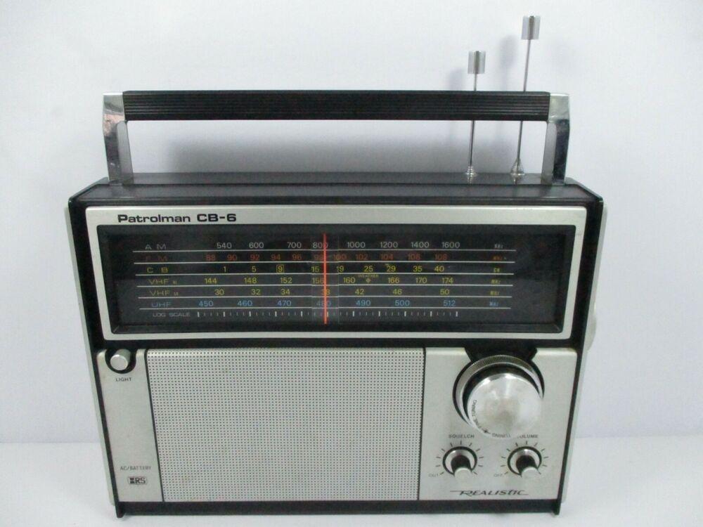 Vintage Emergency Radio Patrolman CB-6 Transistor Radio AM