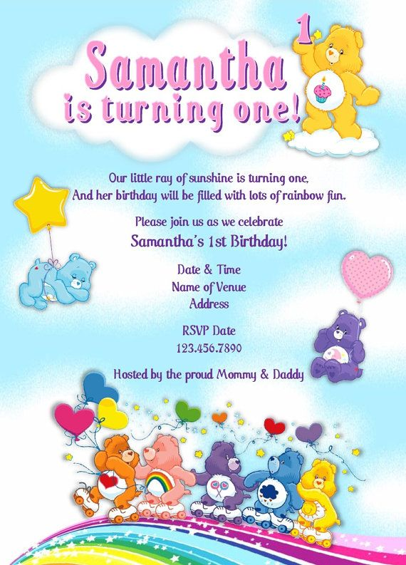 Printable Personalized Diy Bears Party Invitation With Or