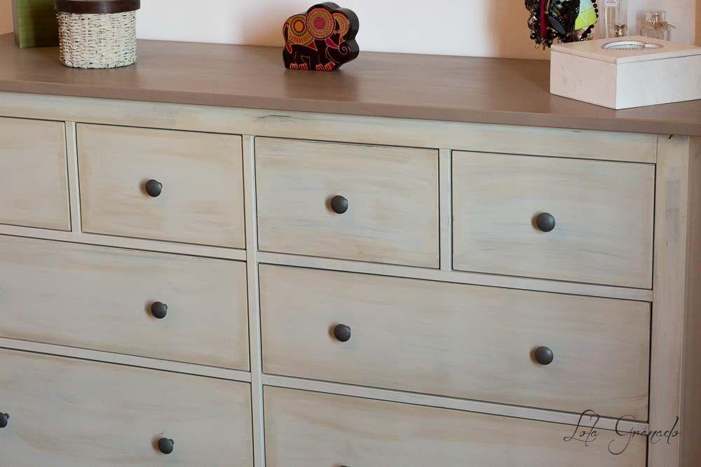 Muebles restaurados pintados a mano chalk paint - Muebles de madera pintados a mano ...