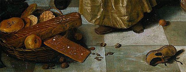Jan Steen, La fête de la Saint Nicolas, détail