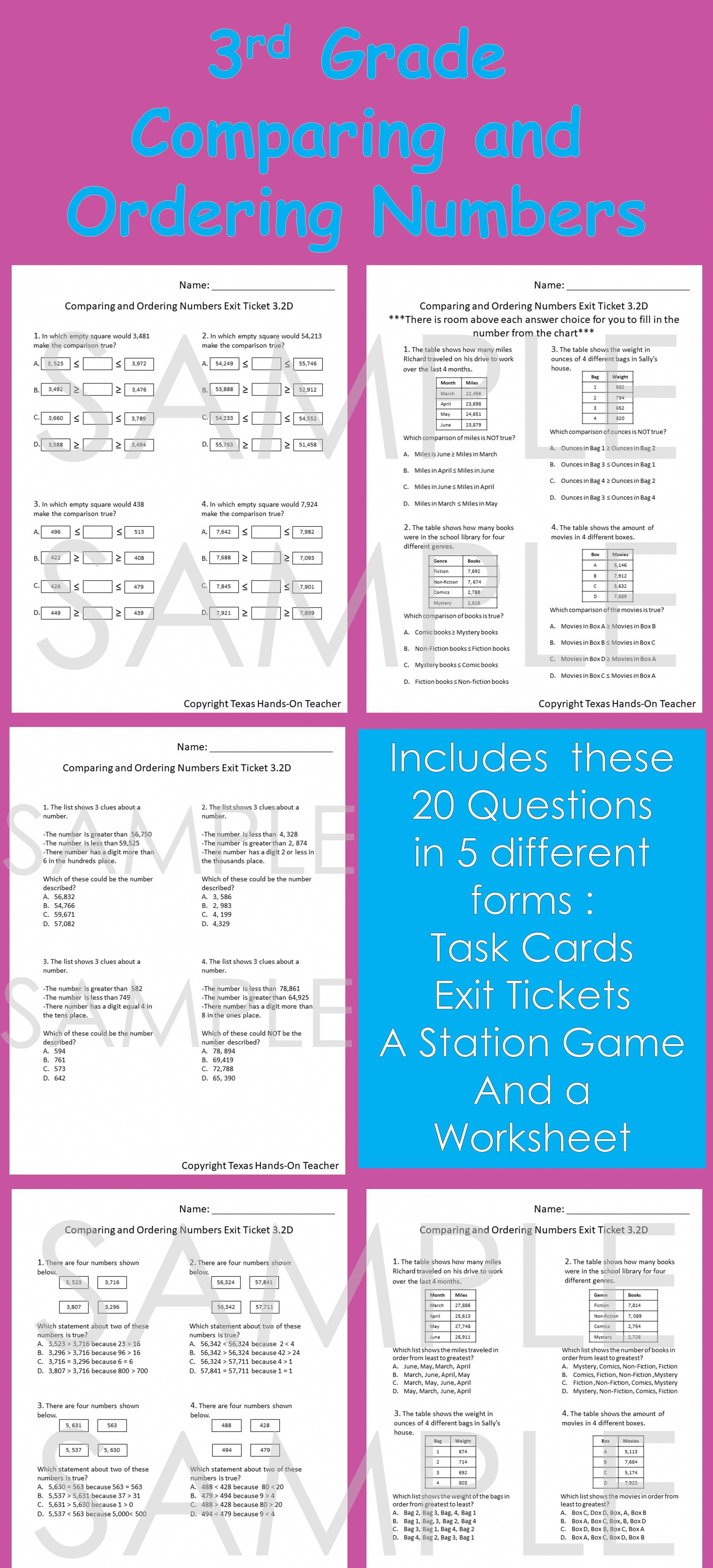 Place Value Task Cards Exit Tickets Station Game And A