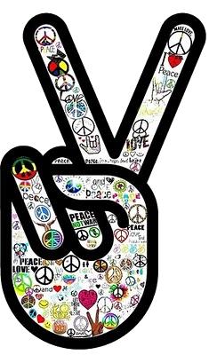 Simbolo Paz E Amor Peace And Love Hippie Love Hippie Peace
