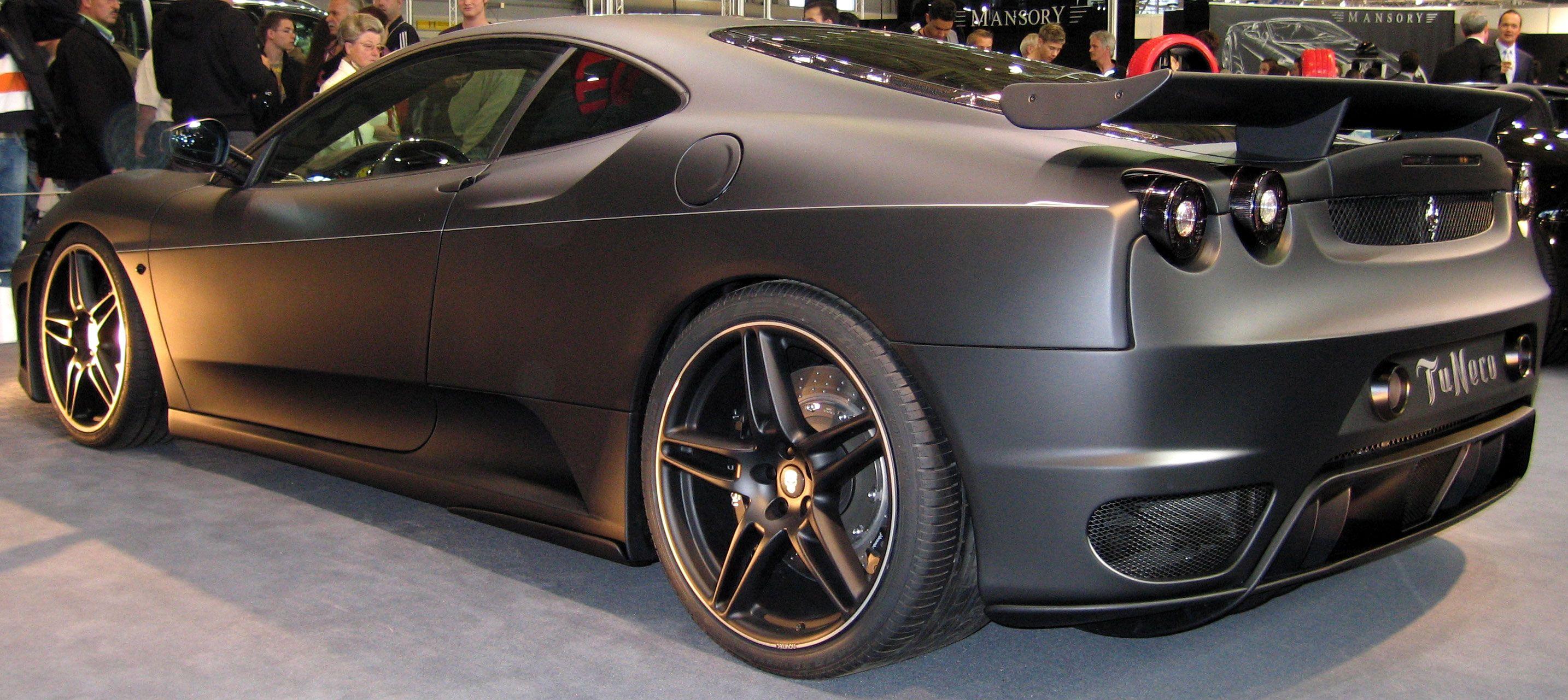 matte black ferrari 599 gtb tuneco - Matte Black Ferrari 599