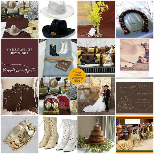 Western Wedding Theme Featuring Pantones French Roast And Honey