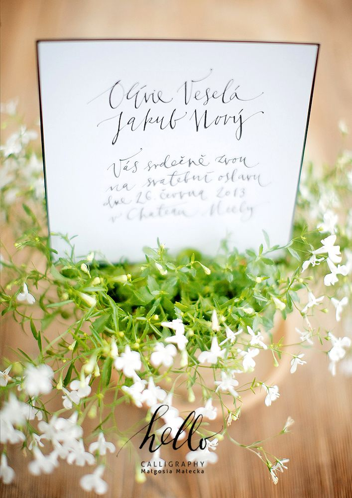 The Invtation By Hello Calligraphy Malgosia Malecka Place Card Holders Modern Calligraphy Place Cards