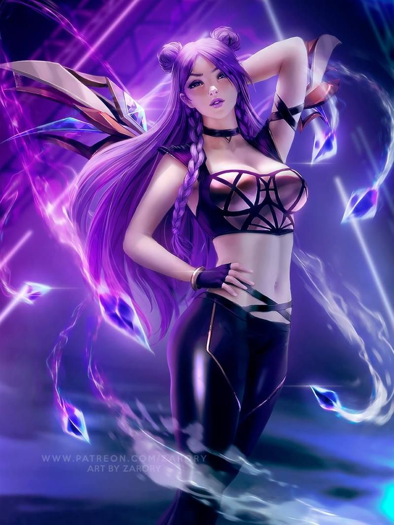 Kda Kaisa By Zarory Lol League Of Legends League Of Legends Characters League Of Legends