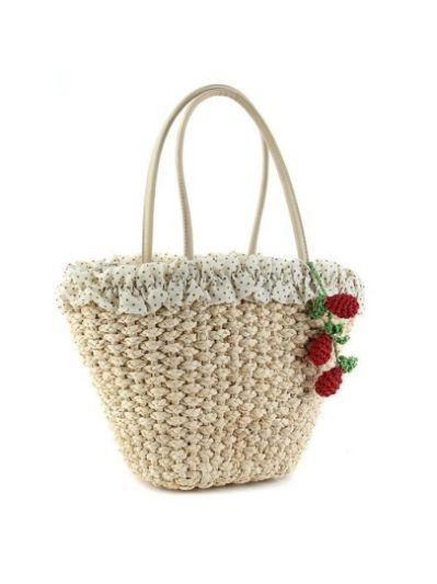 strawberry raffia bags - Yahoo Search Results