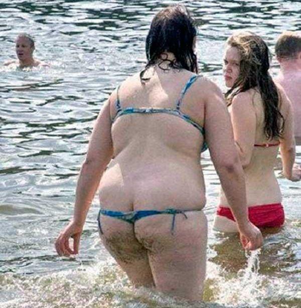 Fat girls in thongs seems me