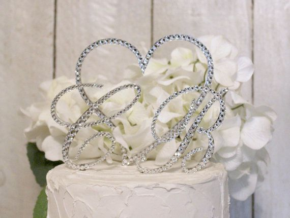 Wedding Cake Toppers Swarovski Crystal