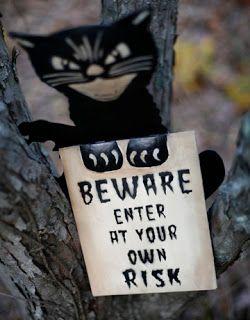 Vintage Cat Sign