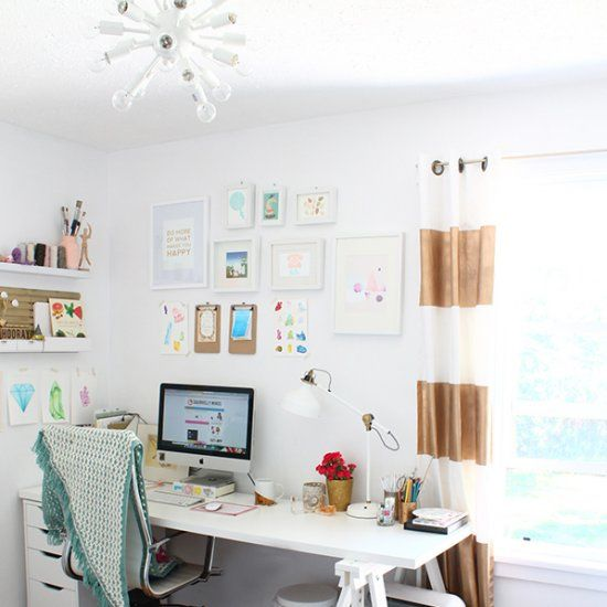 white airy home office. A Boring Room Got Complete Makeover Into This Bright And Airy Home Office /studio White U