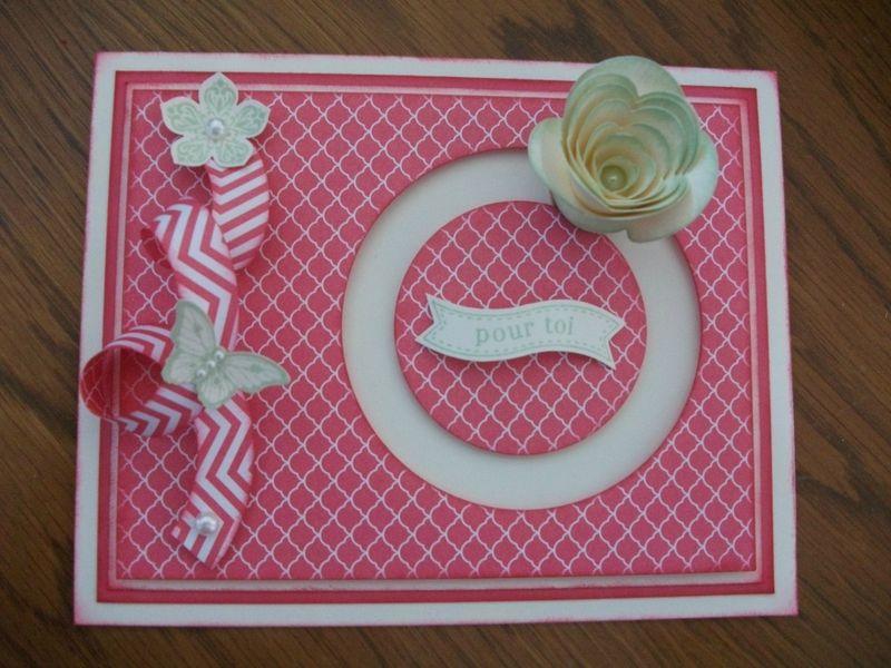 spinner card stampin 39 up fleur spirale spinner cards pinterest carte anim e cartes et creatif. Black Bedroom Furniture Sets. Home Design Ideas