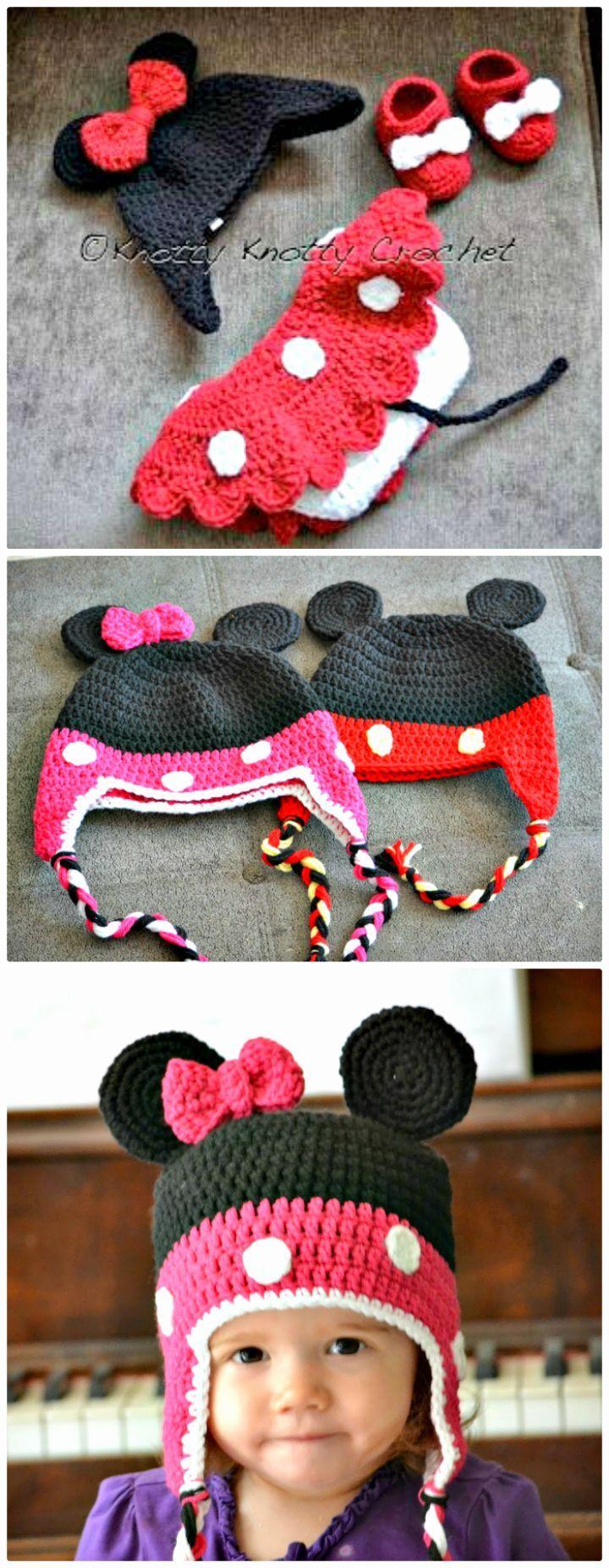 Crochet Mickey Mouse Patterns, Hat, Amigurumi | Crochet