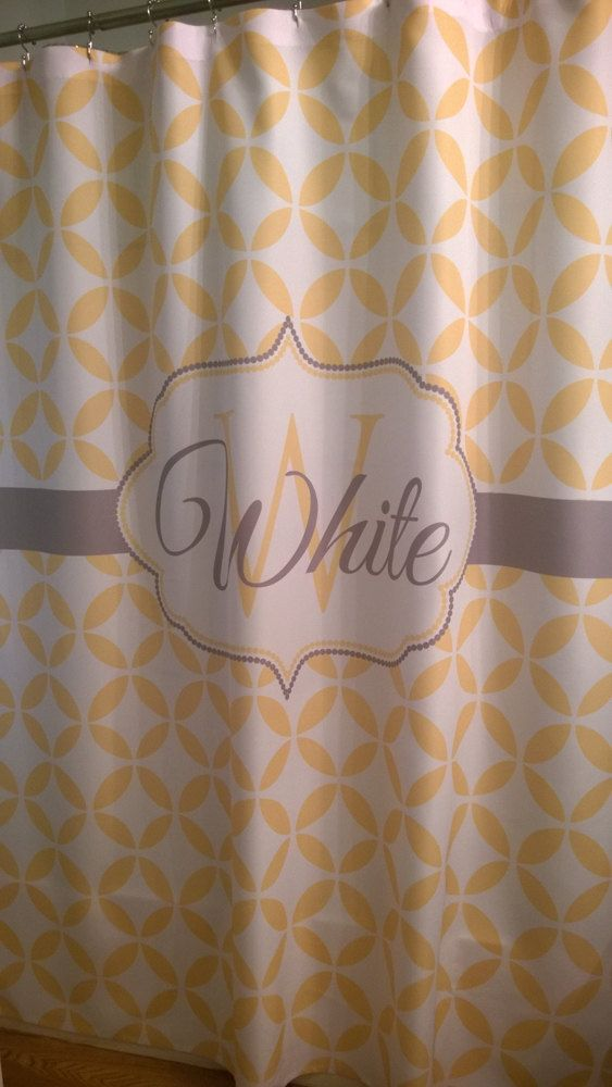 shower curtain geometric circles you choose colors 70 78 84 or 90 inch extra long custom. Black Bedroom Furniture Sets. Home Design Ideas