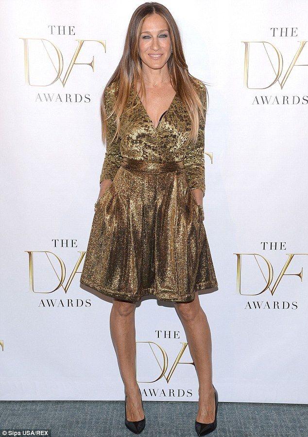 Sarah Jessica Parker shimmers in eyecatching metallic