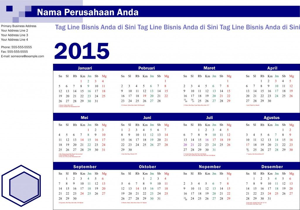free download calendar 2015 pdf