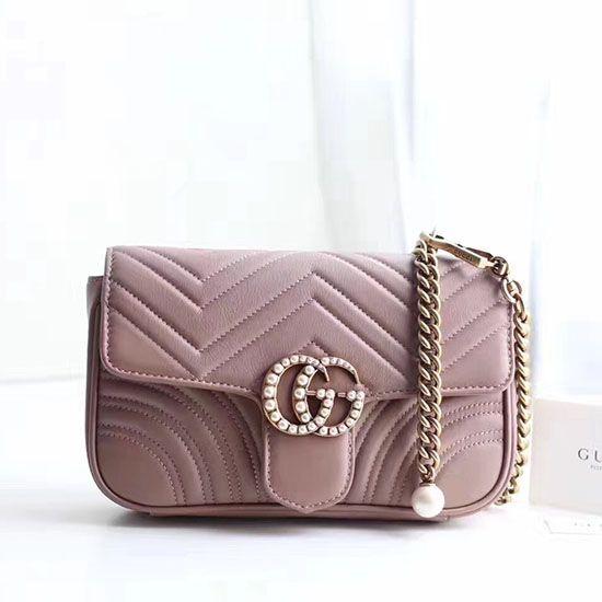 4c736af819071c Gucci Matelasse GG Marmont Chain Belt Bag Nude 476809   Gucci Belt ...